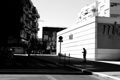 At the intersection (pascalcolin1) Tags: paris13 homme man carrefour intersection lumière light ombres shadows photoderue streetview urbanarte noiretblanc blackandwhite photopascalcolin 5omm canon50mm canon
