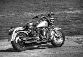 Harley-Davidson Chopper FLSTFI Fat Boy
