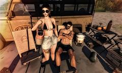 That summer (♥More Jinx♥) Tags: summer beach girl boy dog couple sl secondlife