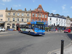 Stagecoach South West 34614 (Welsh Bus 18) Tags: stagecoach southwest transbus dart slf pointer 2 34614 nk04nre torquay strand northeast 38seater
