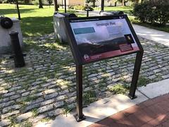 Interpretive sign for the Star-Bangled Banner National Historic Trail, Leone Riverside Park, 301 E. Randall Street, Baltimore, MD 21230 (Baltimore Heritage) Tags: baltimore baltimorecitydepartmentofrecreationandparks interpretivesign maryland park randallstreet riversidepark sign southbaltimore