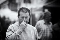 One last drag (Frank Fullard) Tags: frankfullard fullard candid street portrait smoker drag cigarette monochrome inhale last blackandwhite blanc noir expression face deep fag