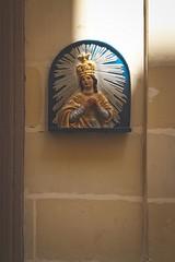 Malta 3820 (zède) Tags: malta malte mediteranean sun wall detail close up catholic ave maria saint jeasus jesus