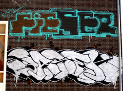 graffiti in Amsterdam (wojofoto) Tags: amsterdam nederland holland netherland graffiti streetart wojofoto wolfgangjosten basek fieser ndsm