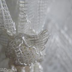 180813 Mesh ShowerCurtainKnot2 c (SMD Pics) Tags: macromonday mesh white shiny thread curtain