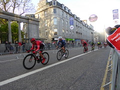 Looking down towards the Union Street hairpin (Steelywwfc) Tags: ovo energy tour series aberdeen julio amores vitus pro cycling jack pullar canyon eisberg liam davies david lines wheelbase castelli adam moore morvelo basso finn crockett spokes racing team holdsworth