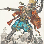 """Vintage publicity illustration of Richard John Smith in the stage production """"Obi"""", or Three-fingered Jack published in 1813 by J. Fairburn. thumbnail"""