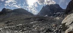 Mont Collon and Bas Glacier d'Arolla (Unliving Sava) Tags: piliersdebertol wallis summer mountains zwitserland valdhérens schweiz alps hiking switzerland glacierdarolla suisse glacier valais alpen basglacierdarolla