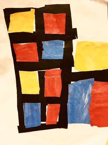 """Every year I get new favorites with this #kindergarten #pietmondrian  inspired painted paper gridded #collage ❤️❤️  They have such an amazing lyricism at this age that I admire so much. Want em all! • <a style=""""font-size:0.8em;"""" href=""""http://www.flickr.com/photos/57802765@N07/43177787844/"""" target=""""_blank"""">View on Flickr</a>"""