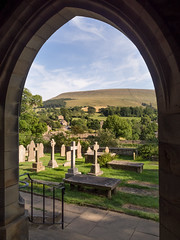 Pendle View (Johnners61) Tags: downham lancashire uk england britain pendle hill pendlehill view landscape church arch frame framed stleonards olympuspen pen olympus ep5 micro four microfourthirds thirds explored inexplore village