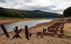 Turn that tap off. (S.K.1963) Tags: elements derwent dam derbyshire peak district old bridge reservoir drought sky olympus omd em1 mkii 714mm 28 pro