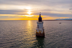 Plover Scar Lighthouse (Joe Hayhurst) Tags: dji drone mavic