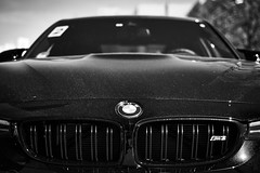 Black (iamunclefester) Tags: münchen munich blackandwhite monochrome black bmw car
