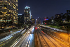 Downtown Los Angeles (Simone Gramegna) Tags: downtown losangeles relax lax california cityscape landscape landmark city usa america trails lights light long longexposure night nightscape