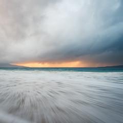 Bagh Steinigidh, Isle of Harris, Outer Hebrides, Scotland (Nils Leonhardt) Tags: nilsleonhardt ocean water scotland isleofharris storm sunset island outerhebrides hebrides nikon longexposure bay beach wave baghsteinigidh clouds sky landscapephotography naturephotography longexposurephotography landscape scenery seascape