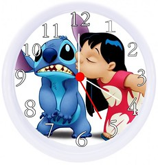 Cute Lilo and Stitch Wall Clock (mywowstuff) Tags: gifts gift ideas gadgets geeky products men women family home office