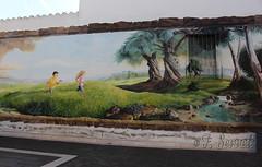 Murales a Ussaramanna (Franco Serreli) Tags: sardinia sardegna murales muri artemuraria streetart ussaramanna marmilla murale bambini verde alberi pitturamuraria pitturemurarie centristorici stradedipaese