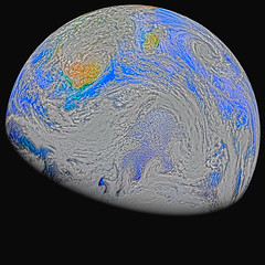 Southern Hemisphere, variant (sjrankin) Tags: 15august2018 22april2015 edited nasa suominpp africa gibbous clouds indianocean cyclone atlanticocean primage antarctica 2164mb large