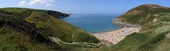 Mwnt Beach (Treflyn) Tags: panoramic view panorama sea coast seaside mwnt beach cardigan bay ceredigion wales