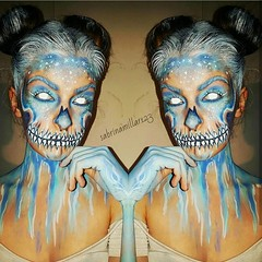 Makeup Ideas for Halloween  Makeup by @sabrinamillar123 (ineedhalloweenideas) Tags: ineedhalloweenideas halloween makeup make up ideas for 2017 happy night before christmas october 31 autumn fall spooky body paint art creepy scary pumpkin boo artist goth gothic