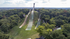 Norge Ski Club - Drone Photos (Rick Drew - 20 million views!) Tags: droneelevation dji phantom 4pro p4p norge ski club jumping olympic sport sports hill ramp summer extreme tower trees forest woods green grass