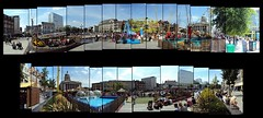 The Beach 2018, Nottingham (ldjldj) Tags: old market square nottingham nottinghamshire hockney montage collage joiner panograph panorama photomontage