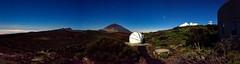 Teide and Dome / Teide y Cupula (López Pablo) Tags: mountain tenerife canary islands spain dome telescope panorama night star nikon d7200