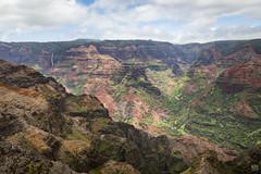 Waimea Canyon 1 (lycheng99) Tags: waimea waimeacanyon canyon kauai landscape hawaii sky rocks color formation rockformation volcanicrocks valley waterfall travel nature