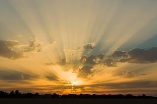 Sunset at Cooling, Kent