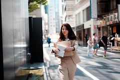 Woman at work (postboxes) Tags: tokyo japan people girl japanese