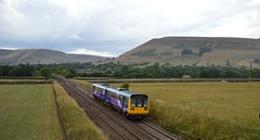 142044 pulls away from Edale with the 2S88 Manchester Piccadilly to Sheffield, 9th Aug 2018. (Dave Wragg) Tags: 142044 class142 pacer northern 2s88 dmu railcar edale valeofedale hopevalleyline railway