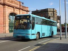 Nottingham Minibus EAZ2588 Rail Station (Guy Arab UF) Tags: nottingham minibus eaz2588 volvo b10m62 plaxton premiere coach bus station nottinghamshire independents buses ulsterbus