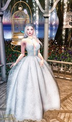 """FEEL"" (Mind Crusher) Tags: beo second life gown wedding dress edith alderbury succubus khaos mind crusher sofia earthstones tiara diamond euphorie necklace halfdeer boudoir home garden catwa strawberry mud skin"
