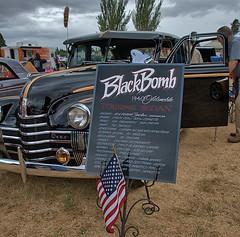 The Black Bomb (Scott 97006) Tags: sedan car antique classic oldsmobile 1940