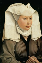 Rogier van der Weyden - Portrait of a Woman with a Winged Bonnet (c.1440) (Pau NG) Tags: rogiervanderweyden art paintings