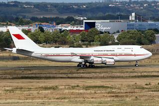 BAHRAIN  ROYAL  FLIGHT / Boeing   B 747-400   A9C-HAK / LFBO - TLS / août 2018