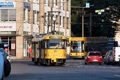 Tatra T4D-MT 224 269, Dresden (rengawfalo) Tags: tram tramway dresden tatra t4d sachsen saxony strasenbahn train railroad bahn dvbag tranvia tramvaj ckd elektricka öpnv publictransport urbanrail tramwaj sporvogn car road tree people