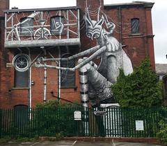 intricate Street Art (koothenholly) Tags: bow blackburn lancashire streetart phlegm northgate