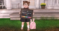 Back to School (AmaraRevven) Tags: muriel little miss la baguette paper damsels lula belle whippersnappers dust bunny dad chez moi anhelo design nani