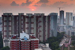 Sunset on Block 63A (terrywongyl) Tags: dwelling blocks 63a cityscape flats apartments urban living hdb