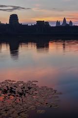 Angkor Wat – Dawn (Thomas Mülchi) Tags: angkor siemreap cambodia 2018 siemreapprovince angkorwat moat outerwall dawn reflections temple tower westwall architecture hdr krongsiemreap kh