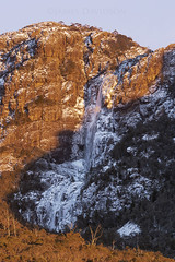 Meander Falls (jamesdavidson9) Tags: sky sunrise snow ice rock trees waterfall