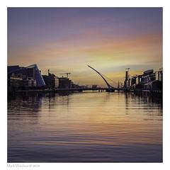 It has been a while (MarkWaidson) Tags: sunrise dublin samuel samuelbeckettbridge morning colour reflection river