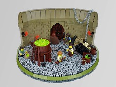 Pixie Processing Plant (Alec_D) Tags: lego castle fantasy troll summerjoust2018 industry pixie dust bricks yummy