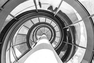 I.M. Pei Glass Spiral Staircase