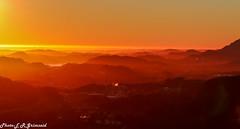 Bergen sunset (2000stargazer) Tags: bergen norway fanafjellet fana sunset view landscape nature golden horizon mountains hills fog light canon