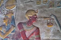Golden cap (konde) Tags: 19thdynasty newkingdom ancientegypt abydos templeofsetii setii isis goddess cartouche hieroglyphs art relief ankh djed mythology