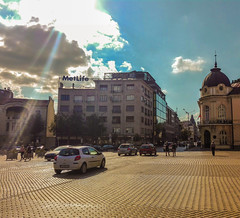 City center (Vasil Gochev) Tags: city street people cars building day sun summer photooftheday sky clouds downtown ray light sofia bulgaria europe tour streetpbotography color elements travel traveling travelblog allaroundtheworld world planet earth cool