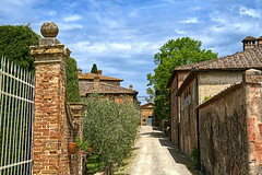 Toward the Family Chapel (Herculeus.) Tags: 2018 agriturismo april country europe italy metabonesnfemountt montestigliano outdoor outdoors outside sonya7rii sovicille spring tuscany michigan road tree sky building