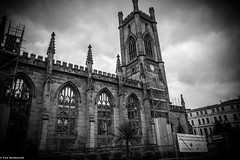"""The """"Bombed-out"""" church, Liverpool (Night-Sky) Tags: liverpool england unitedkingdom gb"""